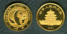 China 1983 1/10 oz PANDA 10 Yuan Original Mint GOLD Coin Early Year UNC