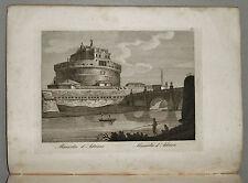 1818c.Inc/Rame.ROMA:MAUSOLEO DI ADRIANO O CASTEL St'ANGELO NIBBY - Parboni-Ruga.