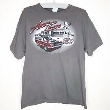 American Classic Muscle Hot Rod Car Diner Drive Up and Dine In T Shirt Large