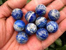 10 NATURAL Lapis Lazuli quartz crystal sphere ball healing punch