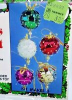 Holiday Beaded Ornament Kit MINI TOY SOLDIERS Christmas Ornaments Makes 24  NEW!