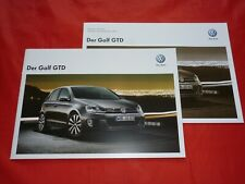 VW Golf VI GTD Prospekt Brochure + Preisliste Pricelist von 2011