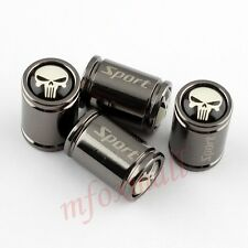 4PCS Titanium Tire Valve Stem Cap Dust Air Wheel Cover Pirate Skull Head Badge