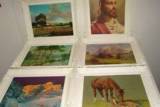 Vintage Plastic Frames 6 pc Set with Lithographs