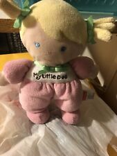Baby My Little First Doll 1st Fisher Price plush soft infant Blond hair 2013