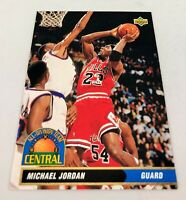1992-93 Upper Deck All-Division Team Michael Jordan #AD9 HOF NM