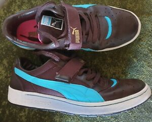 Puma Contact mens trainers UK 9 brown aqua with laces and strap