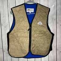 Techniche 6529 Powered by Hyperkewl Gray Nylon Cooling Full Zip Vest Size Large