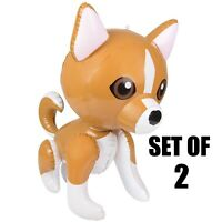 """Inflate Party Decoration 24/"""" Orange Lady Fox/'s With Bow Inflatable Set Of 2"""