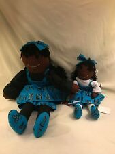 hand made black doll mother and daugther