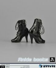 Black High Heels 1/6 Scale Action Figure Accessory Leather Shoes ZYTOYS ZY16-28