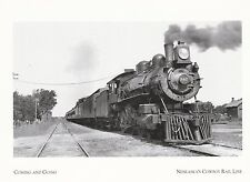 "~Post Card~Nebraska-""Train Coming Down Tracks"" /Coming & Going/ (A324)"