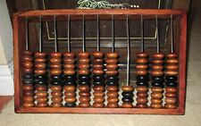 """Antique Chinese Rosewood Large Huge Abacus 18"""" X11"""" 3.3 Lbs Carved Dovetail Wood"""