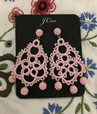 Pink New$49.50 With J.Crew Bag! J.Crew Bead-And-Embroidery Earrings! Sold Out!
