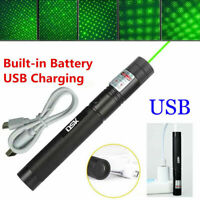 900Miles 303 Laser Pointer Pen Red/Green Visible Beam Star Cap USB Rechargeable