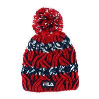 New Fila Cable Knit Yarn Beanie Hat with Pom