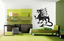 Wall Vinyl Sticker Decals Kids Room Decor Mural Animal Dragon w/ Wings #142