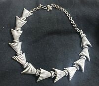 "vintage charel silver tone 16"" necklace"