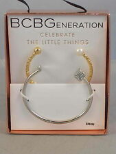 BCBG Generation CELEBRATE THE LITTLE THINGS Crystal Cube Pearl Bracelet GIFT SET