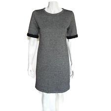 Lou & Grey Heather Gray and Black Trim Short Sleeve Casual Shift Dress Sz Small