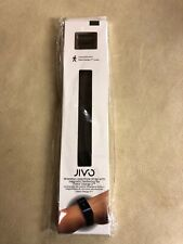 Jivo Milanese Loop Style Strap Fitbit Charge 2 Large Black Magnetic Replacement