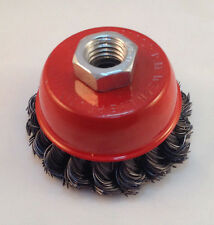 "Heavy Duty 3"" Knotted/Twisted Wire Cup Brush"