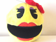 Brand New Mrs. Pac Man Girl 5 '' .Licensed Plush. Stuffed Toy. USA.