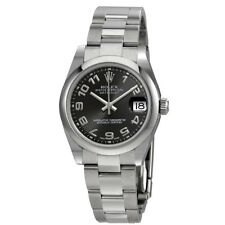 Rolex Datejust Lady 31 Black Concentric Dial Stainless Steel Oyster Bracelet