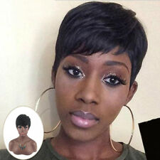 Hot Fashion Short Pixie Wig For Afro Black Women Hair Synthetic Wig Natural DIY