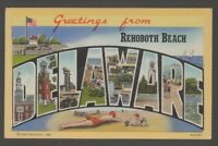 [69012] OLD LARGE LETTER POSTCARD GREETINGS from REHOBOTH, DELAWARE