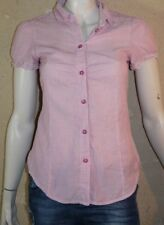 ESPRIT Taille 36 Superbe chemise manches courtes rose blouse femme
