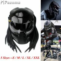 Predator Black Carbon Fiber Motorcycle Helmet Full Face Iron Warrior Man Helmets