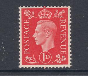 Great Britain Sc 236a, SG 463a MNH. 1938 1p scarlet KGVI, watermarked sideways