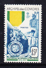 More details for comoro islands 1952 sg16 centenary of the military medal - fine used. cat £49