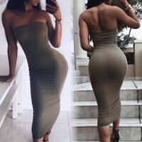 Women Bodycon Hip Dresses Sexy Off-the-shoulder Backless Dress Party/Cocktail