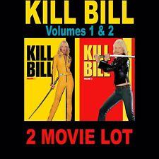 KILL BILL Volume 1 & 2 Blu-Ray Lot •New* (No Digital Copy) Sealed +Free Shipping