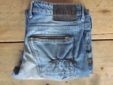 """G-STAR JEANS """"ATTACC LOW STRAIGHT"""" (34x31) HEAVY-FADE DISTRESSED 100% COTTON - E"""
