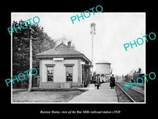 OLD 8x6 HISTORIC PHOTO OF BUXTON MAINE THE BAR MILLS RAILROAD STATION 1920 1
