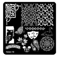 Nail Art Stamping Plate Schablone Platte NEU Stempel Feder Maus Maske Mandala