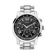 Guess Men's 45mm Chronograph Silver Steel Bracelet & Case Quartz Watch W0379G1