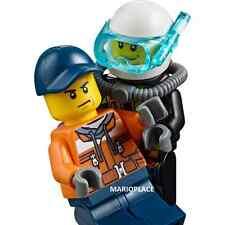 LEGO City 60106 Dockworker & Male Firefighter Diver Minifigure NEW