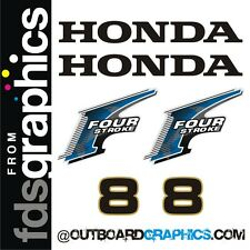 Honda 8hp 4 stroke outboard engine decals/sticker kit - other outputs available