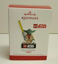 2013 Hallmark Yoda Lego Star Wars Keepsake Ornament New