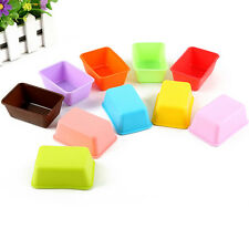 2x Handy Silicone Toast Cake Bread Mold Rectangle Shape Soap Mould Baking Tool