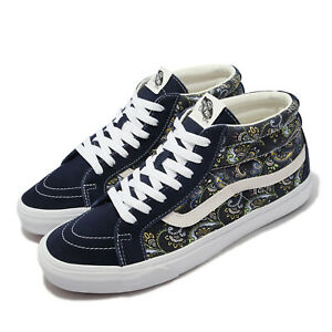 Vans Sk8-Mid Reissue Paisley Blue White Men Casual Lifestyle Shoes VN0A391FITN