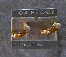1980's COLLECTIONS II pierced earrings set - new old stock, on original card