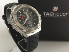 Tag Heuer Formula 1 Alarm Mens Black Authentic F1 GOOD CDN + Boxes CHRISTMAS