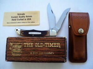 SCHRADE USA 25OT OLD TIMER FOLDING HUNTER MODEL KNIFE