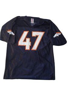 NFL players Lynch #47 Denver Broncos Jersey Mens Sz L