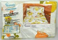 Vintage Wamsutta No Iron Ultracale Double Flat Sheet NWT FLORAL Tip Toe Tulip